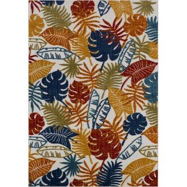 Tapis d'Extérieur Capanna Motifs en Relief Multicolor Résistant aux UV 2  | ZeWebMarket.com