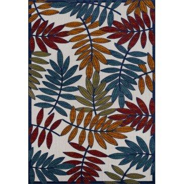 Tapis d'Extérieur Capanna Motifs en Relief Multicolor Résistant aux UV 1  | ZeWebMarket.com