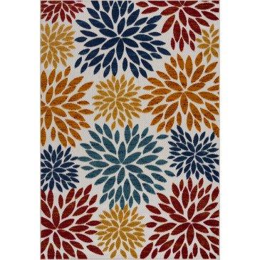 Tapis d'Extérieur Capanna Motifs en Relief Multicolor Résistant aux UV 4  | ZeWebMarket.com