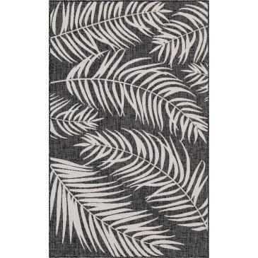 Tapis d'Extérieur Sagua Noir Résistant aux UV  | ZeWebMarket.com