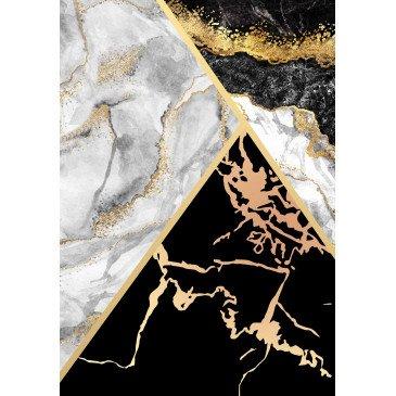 Tapis Print Anti-Dérapant Lavable en Machine Noir 4  | ZeWebMarket.com