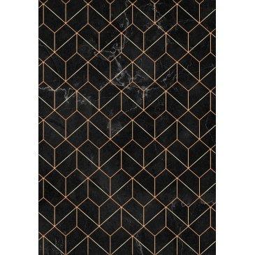 Tapis Print Anti-Dérapant Lavable en Machine Noir 5  | ZeWebMarket.com
