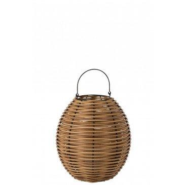 Lanterne Tissée Led Plastique Naturel Medium    cosy-home-design.fr