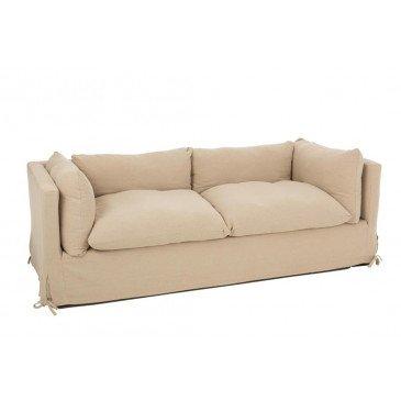 Canapé 3 Personnes Bouleau Textile Beige  | cosy-home-design.fr