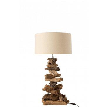 Lampe et Abat-Jour Bois Flotté Naturel Beige Small  | cosy-home-design.fr