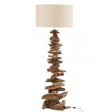 Lampe et Abat-Jour Bois Flotté Naturel Beige Large  | cosy-home-design.fr
