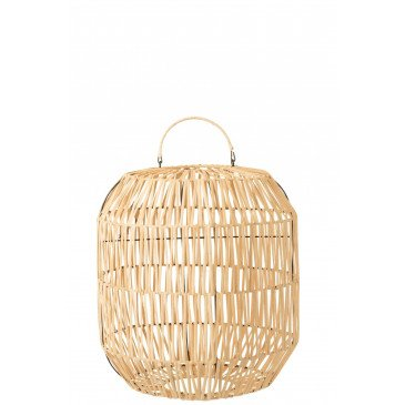 Abat-Jour Cylindrique Rotin Naturel  | cosy-home-design.fr