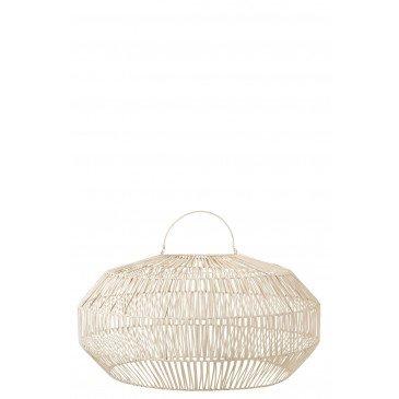 Abat-Jour Rotin Blanc Medium  | cosy-home-design.fr