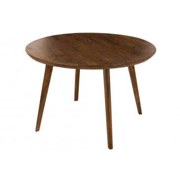 Table à Manger Vince Ronde Bois de Manguier Marron  | cosy-home-design.fr