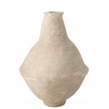 Vase Extra Large Chad Papier Mâché Blanc  | cosy-home-design.fr