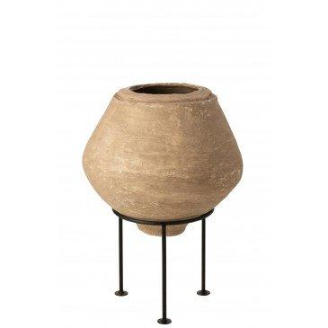 Pot sur Pied Chad Papier Mâché Marron  | cosy-home-design.fr