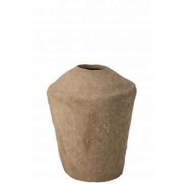 Vase Large Chad Papier Mâché Marron  | cosy-home-design.fr
