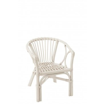 Chaise Enfant Filou Rotin Blanc  | cosy-home-design.fr