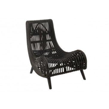 Chaise Rotin Noir  | cosy-home-design.fr