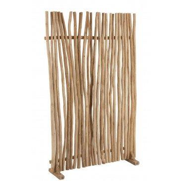 Paravent Bois Teck Naturel  | cosy-home-design.fr