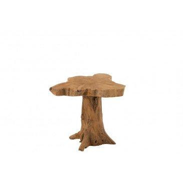 Table Gigogne Arbre Teck Naturel  | cosy-home-design.fr