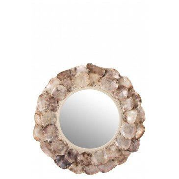 Miroir Ina Coquillages Mauve Large  | cosy-home-design.fr