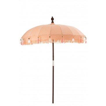 Parasol et Pied Floches Coquillages Pêche Bois Marron Fonce Large  | cosy-home-design.fr