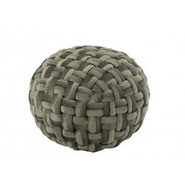 Pouf Crocheté Viscose Rond Vert  | cosy-home-design.fr