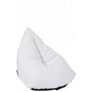 Pouf Poire Triangulaire Polyester Blanc  | cosy-home-design.fr