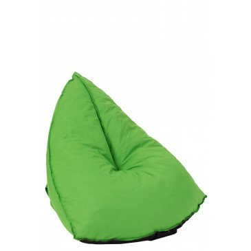 Pouf Poire Triangulaire Polyester Vert  | cosy-home-design.fr