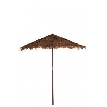 Parasol Feuilles de Cocotier Marron Large  | cosy-home-design.fr