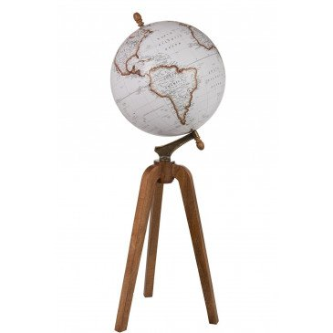 Globe sur Pied Bois Blanc Naturel Extra Large  | cosy-home-design.fr
