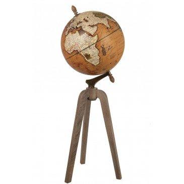 Globe sur Pied Bois Rouille Naturel Extra Large  | cosy-home-design.fr
