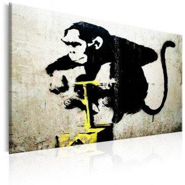 Tableau Monkey Detonator by Banksy    cosy-home-design.fr