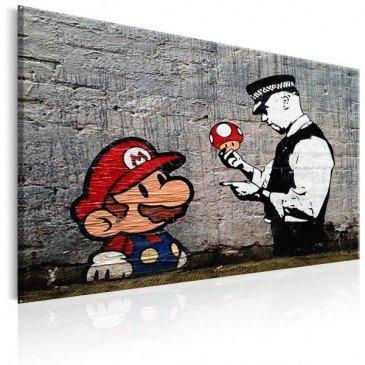Tableau Mario and Cop by Banksy    cosy-home-design.fr