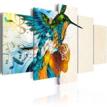 Tableau Bird's music - 5 pieces  | cosy-home-design.fr