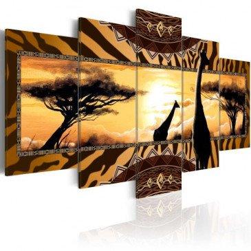 Tableau African giraffes  | cosy-home-design.fr