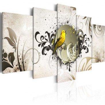 Tableau Yellow bird  | cosy-home-design.fr
