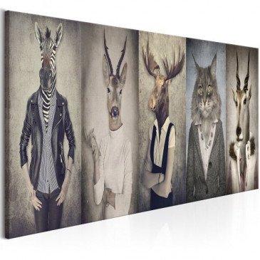 Tableau Animal Masks  | cosy-home-design.fr