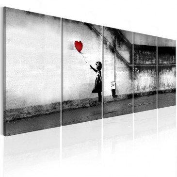 Tableau Banksy Runaway Balloon    cosy-home-design.fr