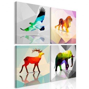 Tableau Colourful Animals 4 Pièces  | cosy-home-design.fr