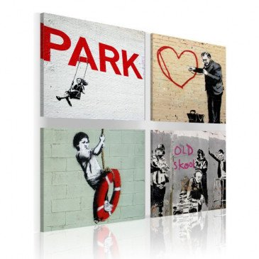 Tableau Banksy - Inspiration urbaines  | cosy-home-design.fr