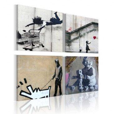 Tableau Banksy - quatre idées créatives  | cosy-home-design.fr