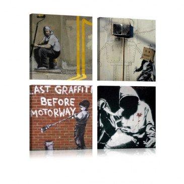 Tableau Banksy - Street Art  | cosy-home-design.fr