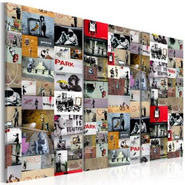 Tableau Art of Collage Banksy III    cosy-home-design.fr