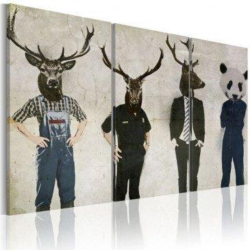 Tableau L'homme est un animal comme les autres !    cosy-home-design.fr