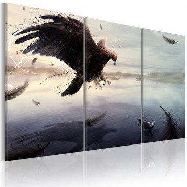 Tableau Aigle au-dessus du lac  | cosy-home-design.fr