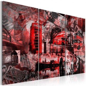 Tableau Londres rouges    cosy-home-design.fr