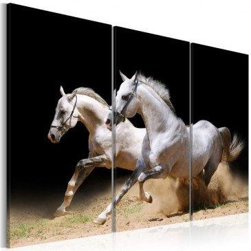 Tableau chevaux - force et dynamique  | cosy-home-design.fr