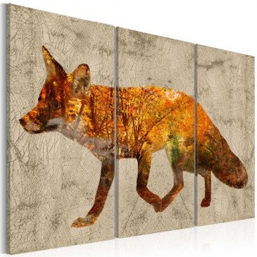 Tableau Fox in The Wood  | cosy-home-design.fr