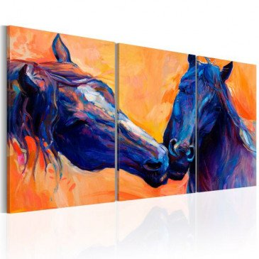 Tableau Blue Horses  | cosy-home-design.fr