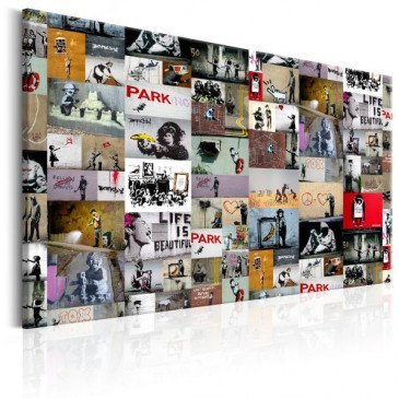Tableau Art of Collage Banksy  | cosy-home-design.fr