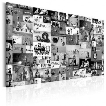 Tableau Banksy Graffiti Collage  | cosy-home-design.fr