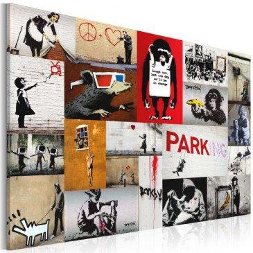 Tableau Banksy - collage  | cosy-home-design.fr
