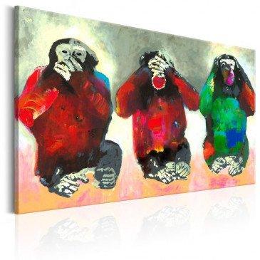 Tableau Three Wise Monkeys  | cosy-home-design.fr
